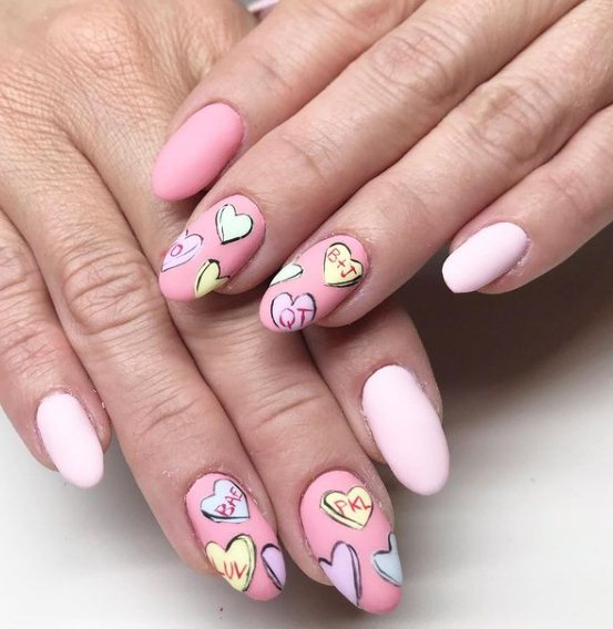 29+ Heart Nail Art Designs to Be Lovely in 2021