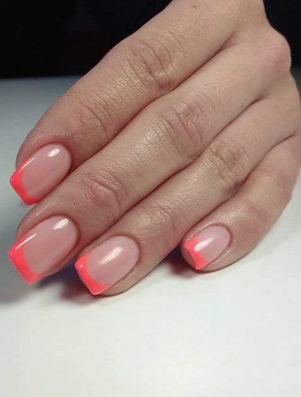 14. Pink french manicure nails