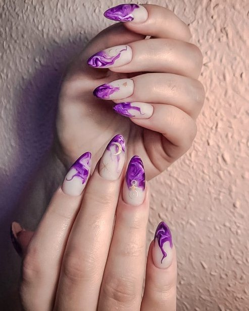 2. Acrylic nails in pastel colors