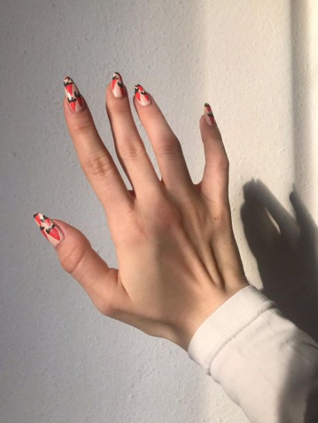 Easter carrot nails
