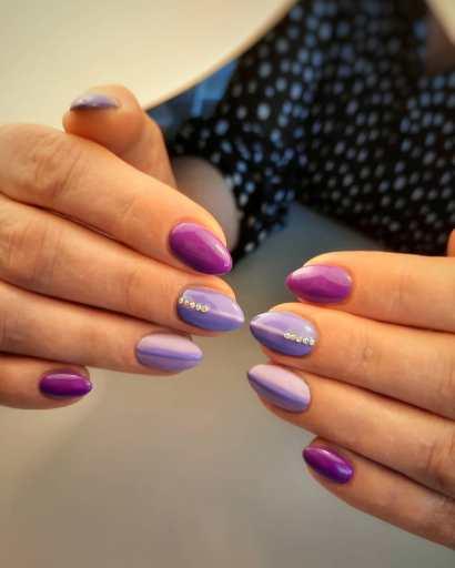 Lilac Chrome Nails