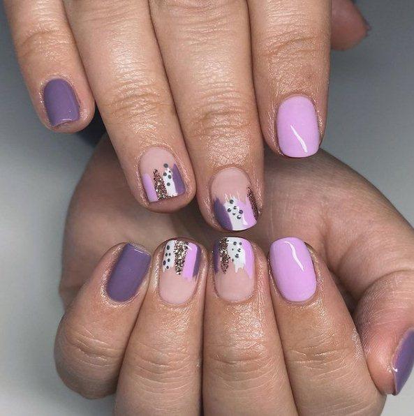 Multi-Tone Purple Nails