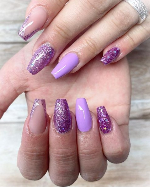 9. Purple Glitzy Design