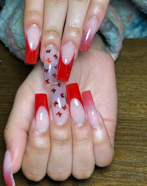 Butterflies Nail Design