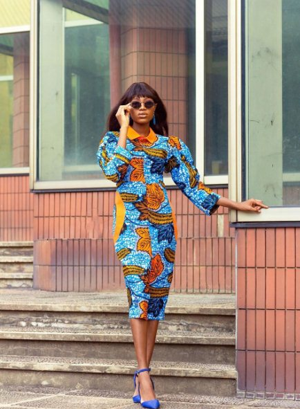 Owambe gown with split