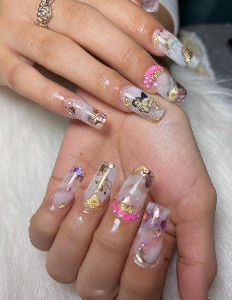 3D Angel nail designs