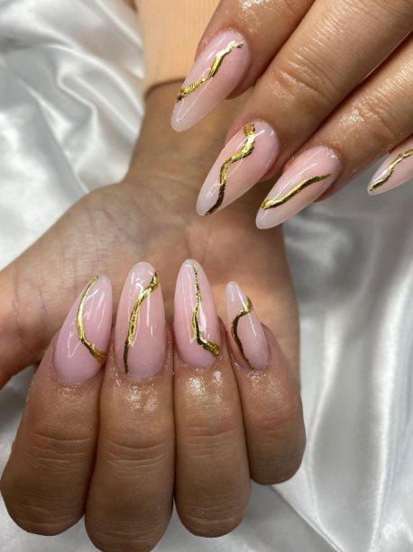 Almond Summer Nails