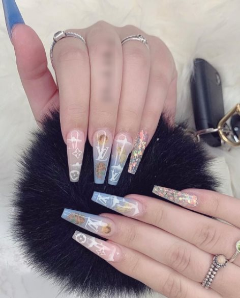 Angel nails with natural color
