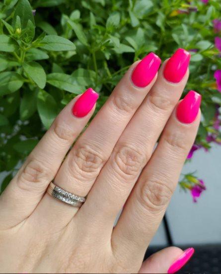Dior pink nails