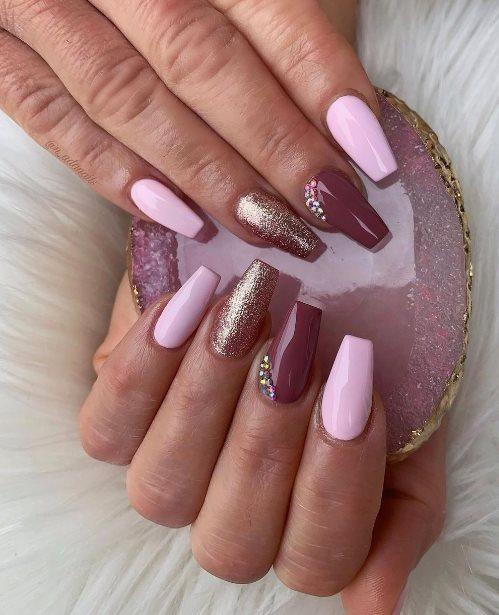 Gradient Pink Nails