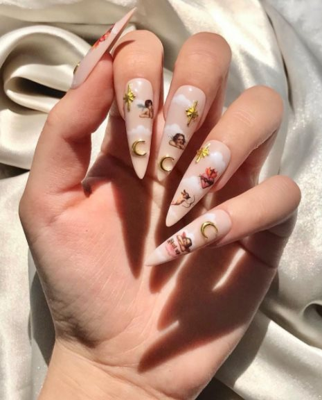 23 Unique Angel Nail Designs Will Make You Whimsical