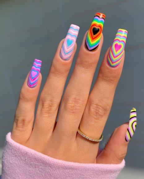 Pastel Pride nails