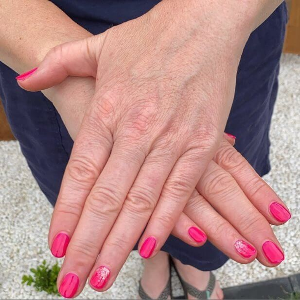 Pink Ombre Coffin Nails
