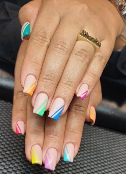 Rainbow Edges Nails