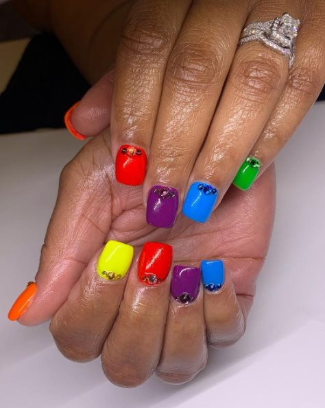 Simple Pride Nails