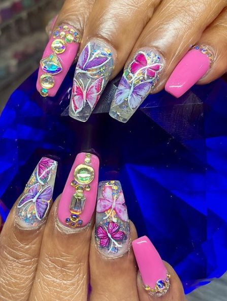 Stiletto nails With Angel nails feature