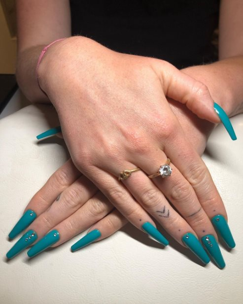 Turquoise Nail Tips Ideas
