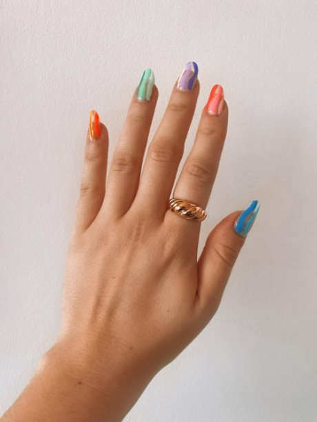 Vibrant summer nails