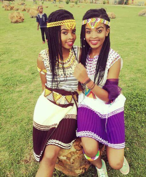 Zulu Girls In Modern Traditional Outfits