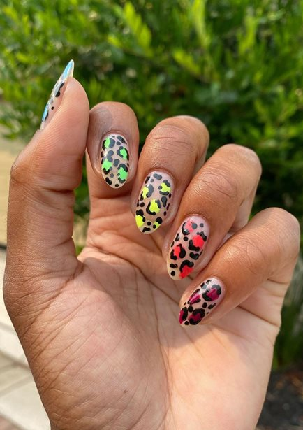Leopard Nails for Pride