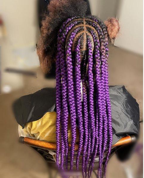 Purple Lemonade Braids