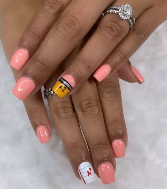 Acrylic nails for school