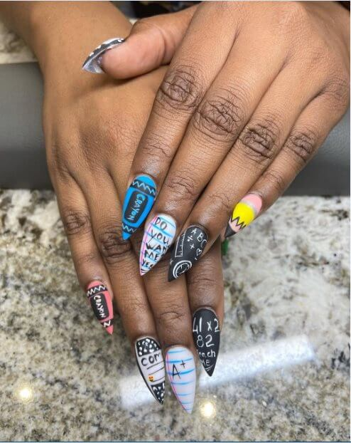Back to school manicure