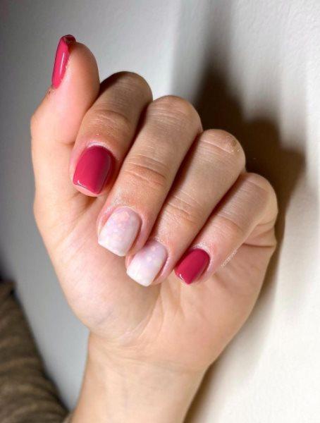 Dark burgundy nails