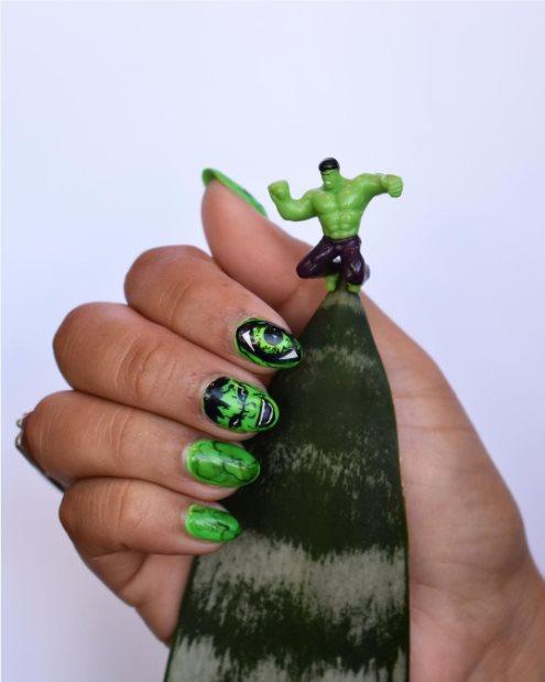 Incredible Hulk Nails