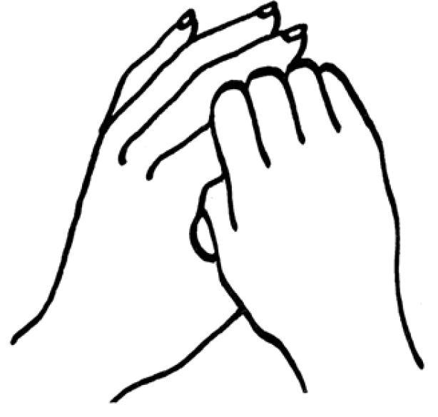 Zeigefinger halten, z.B. für die Hüfte