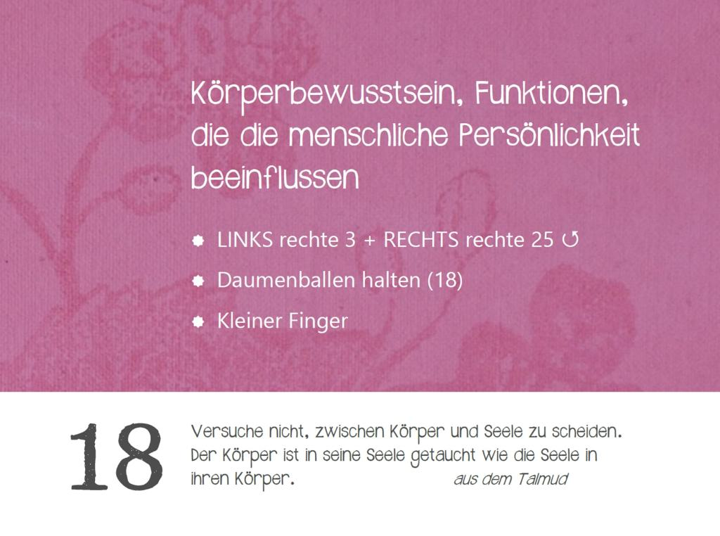 Strömen Jin Shin Jyutsu Strömkalender Anke Oltmann