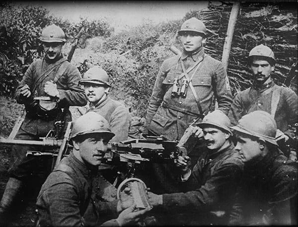 Foto von französischen Soldaten an der Westfront
