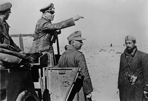 Foto von General Erwin Rommel in Afrika