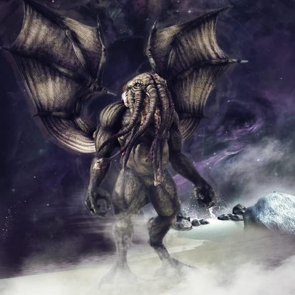 Grafik des Monsters Cthulu