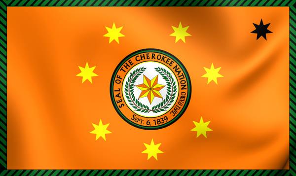 Fahne der heutigen Cherokee Nation