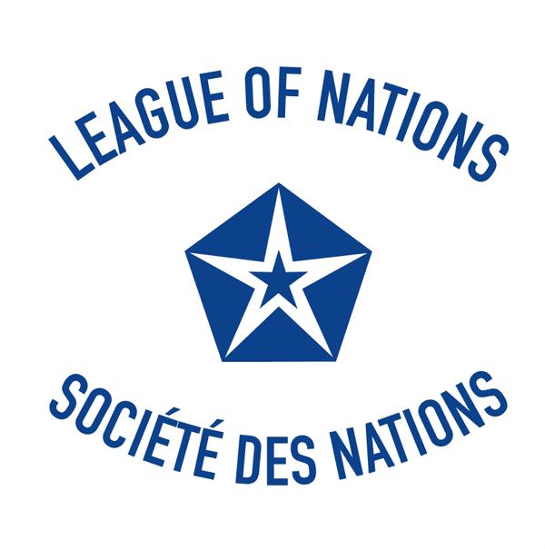 Fahne des Völkerbundes