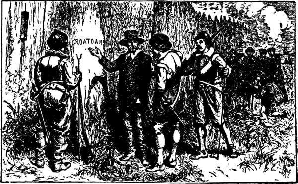 Historische Darstellung der zweiten Expedition nach Roanoke