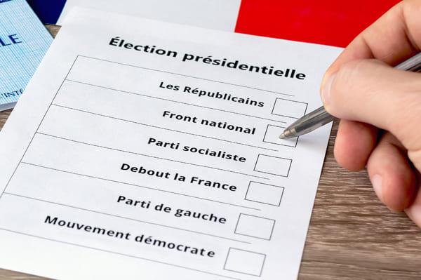 Bild eines fiktiven Wahlzettels zur Präsidentschaftswahl 2017