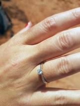 She loves her ring! ( Phew :-) )