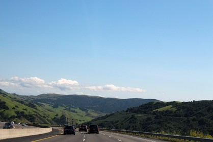 The gorgeous views while driving