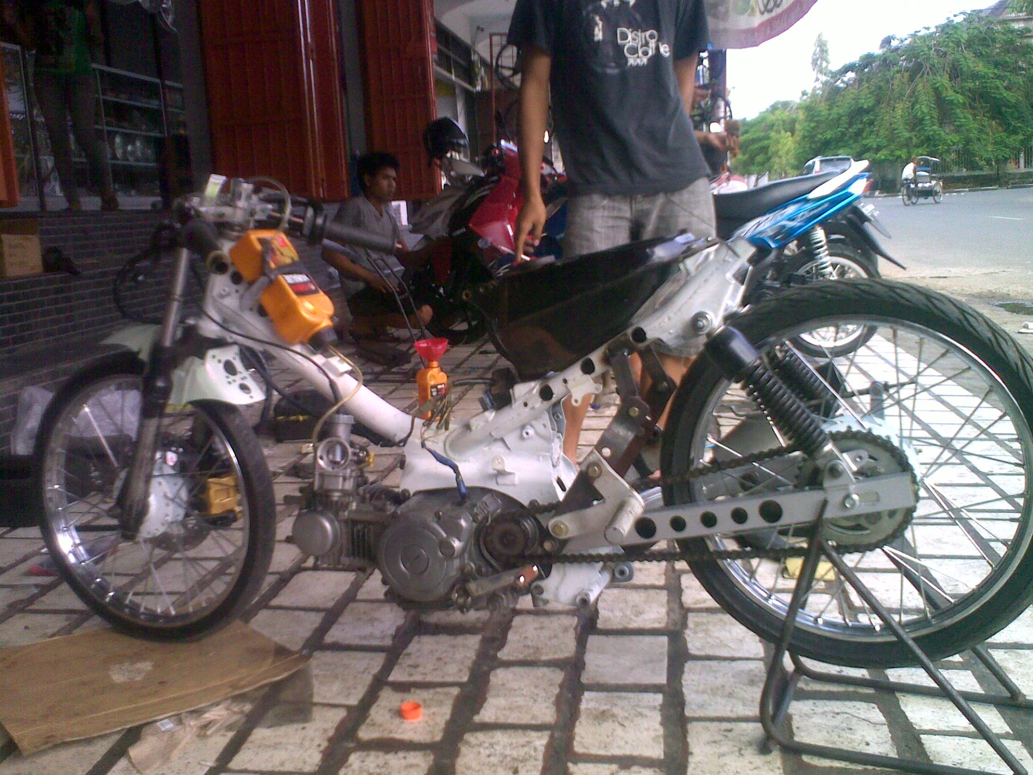 Cara membuat motor drag jupiter mx  ankga92