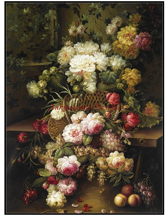 Bouquet Of Flowers In A Vase Counted Cross Stitch Patterns