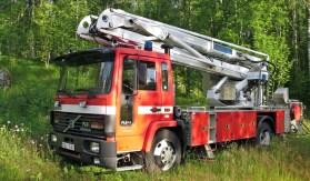 En kvarglömd(?) brandbil