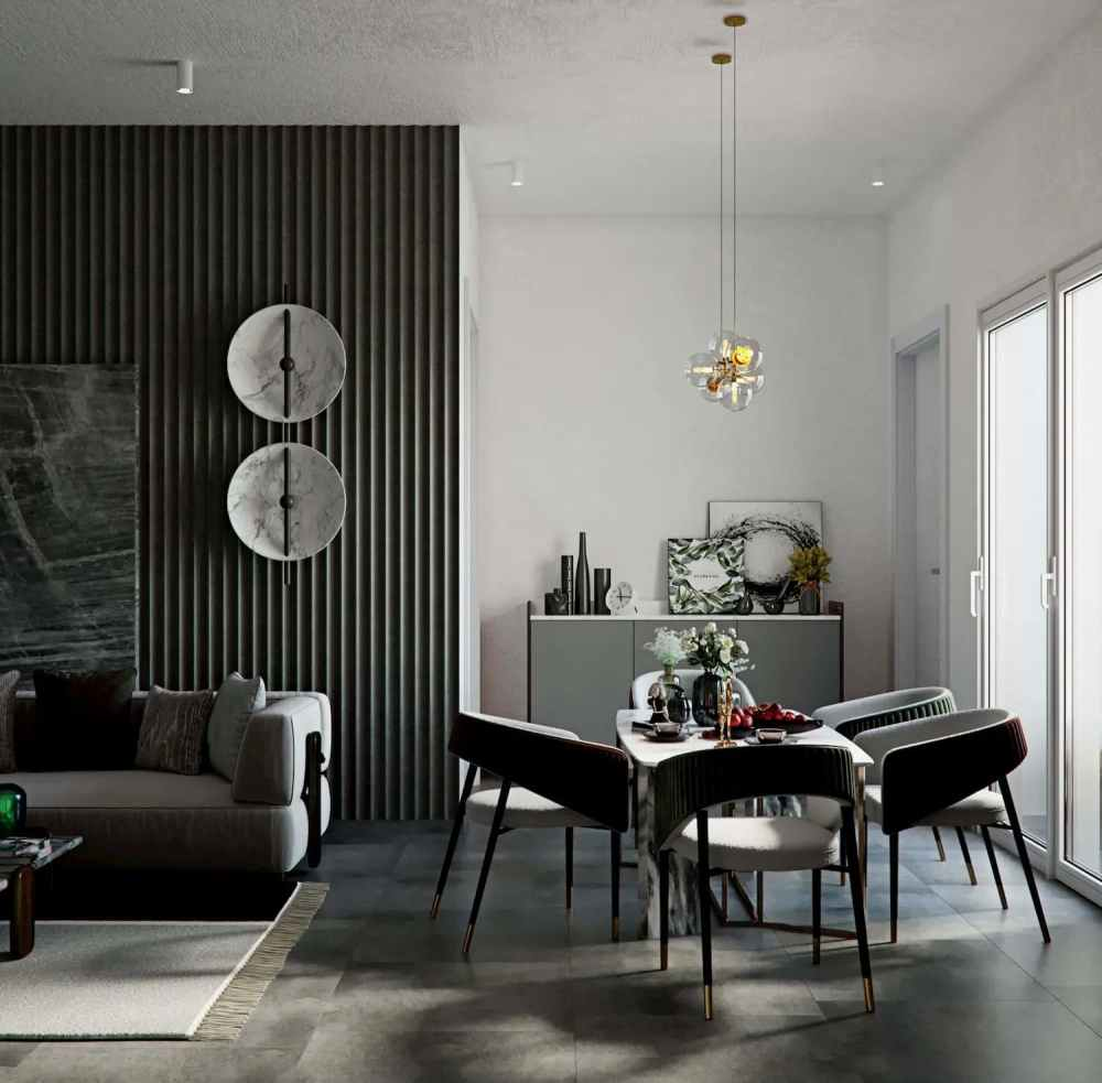 Dining Room Atmosphere Happy Homes - Flats In Siliguri