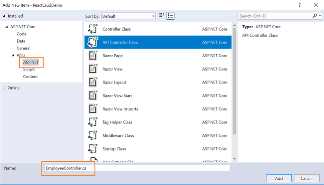 ASP NET Core - CRUD With React js And Entity Framework Core - Ankit