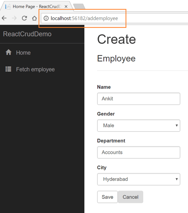 CRUD With ASP.NET Core and React.js Using EF Core