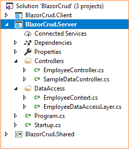CRUD Using Blazor And Entity Framework Core