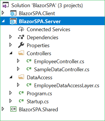 SPA Using Razor Pages With Blazor