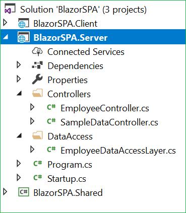 SPA Using Razor Pages With Blazor