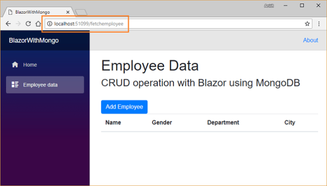 Blazor CRUD With MongoDB